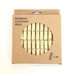 Zero Waste Club Box of 20 Bamboo Pegs