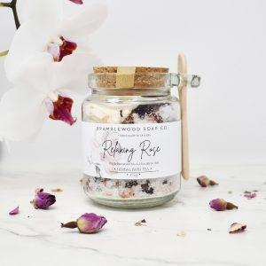 Bramblewood Soap Co Relaxing Rose Geranium Bath Tea