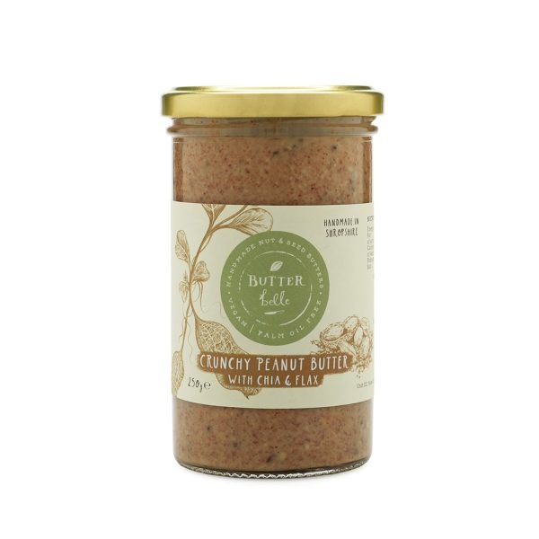 Butterbelle Handmade Crunchy Peanut Butter with Chia & Flax