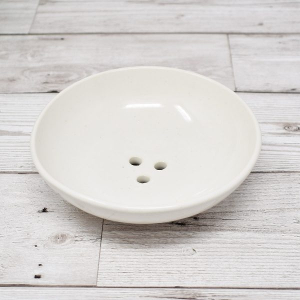 Clod & Pebble White Ceramic Soap Dish